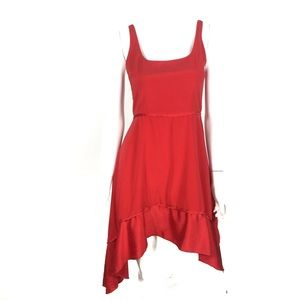 Elizabeth and James Silk Dress Red Size 8